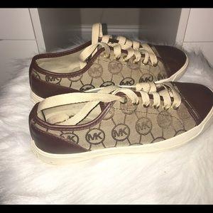 Light and Dark Brown Micheal Kors Sneakers